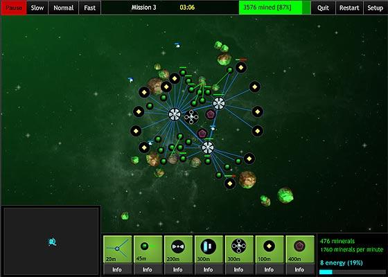 お盆休みにいかが?宇宙空間で資源を採掘し、猛烈な敵の来襲を防ぐ『 The Space Game: Missions 』2