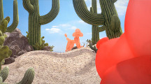 軽快なタンゴの音楽に合わせて踊る、風船アートで作られた犬の面白い動画 『 Tumbleweed Tango 』2