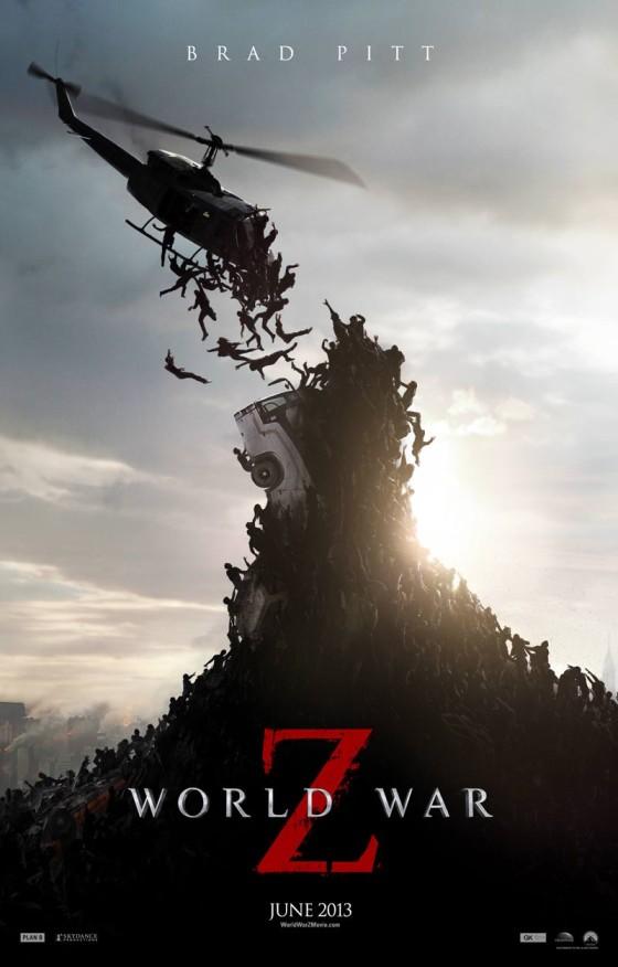ネコも宙を舞う?!ブラッド・ピット主演の映画『WORLD WAR Z』のポスター2