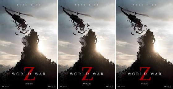 ネコも宙を舞う?!ブラッド・ピット主演の映画『WORLD WAR Z』のポスター3