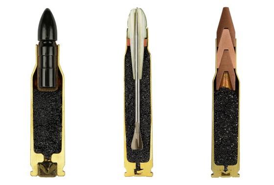 めったに見る事の出来ない、弾薬の断面画像1
