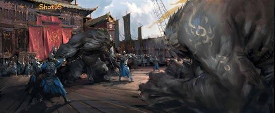 半獣人や獣たちが入り乱れて戦う中国のオンラインゲーム『 斗战神 』の予告映像が凄い コンセプトアート2