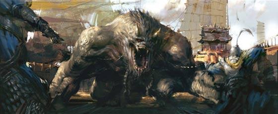半獣人や獣たちが入り乱れて戦う中国のオンラインゲーム『 斗战神 』の予告映像が凄い コンセプトアート4