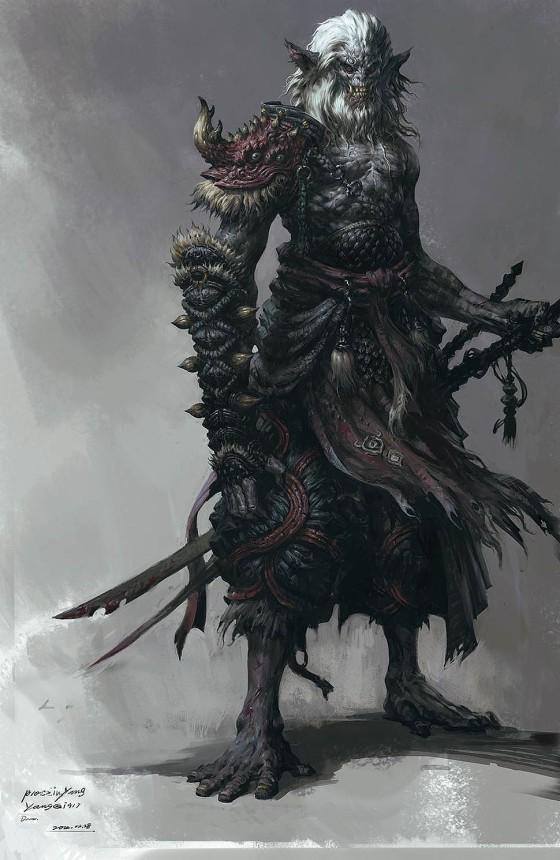 半獣人や獣たちが入り乱れて戦う中国のオンラインゲーム『 斗战神 』の予告映像が凄い コンセプトアート8