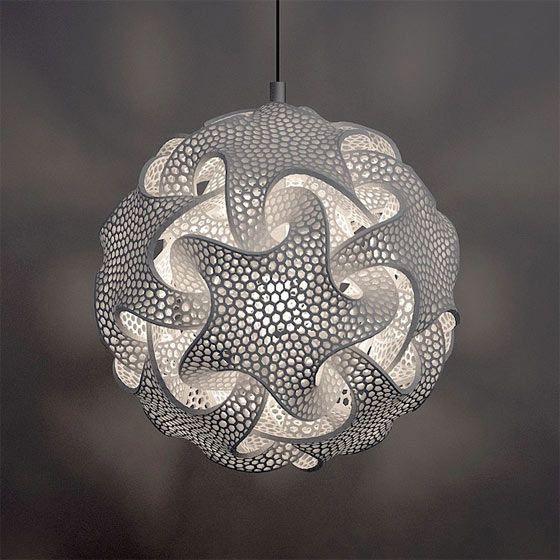 3Dプリンターで創る事を活かした、複雑で幾何学的な形状の照明器具2