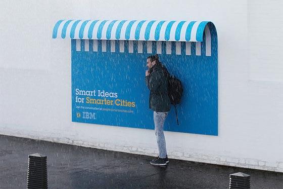IBMによるクリエイティブな屋外広告_屋根
