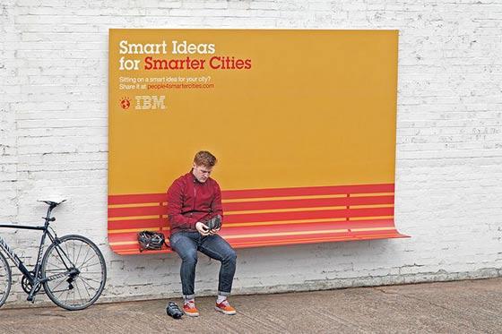 IBMによるクリエイティブな屋外広告_ベンチ