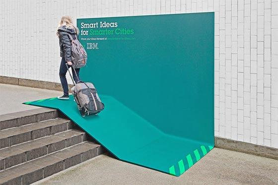 IBMによるクリエイティブな屋外広告_スロープ
