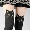 【オススメ】脚に猫をまとう?!ネコ柄の超可愛いフェイクニーハイストッキング