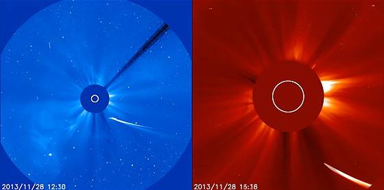 SOHO(太陽・太陽圏観測衛星)によって撮影された、アイソン彗星の美しいコロナダイブ映像3