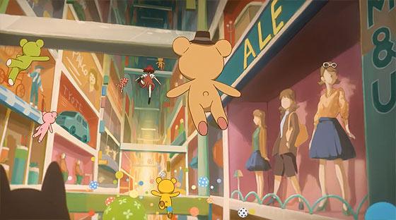 1人の少女とクマのぬいぐるみが見た夢のひと時を描く、ブランド『Control Bear』の優しいショートフィルムが面白い4