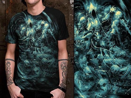 アクションRPG『 Diablo III 』をテーマに開催されている、Tシャツデザインコンテストの出来が素晴らしい1