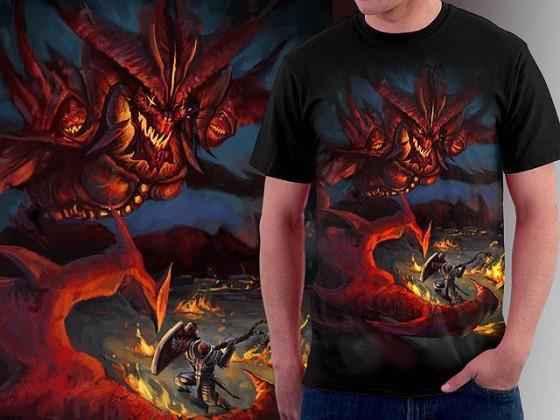 アクションRPG『 Diablo III 』をテーマに開催されている、Tシャツデザインコンテストの出来が素晴らしい6