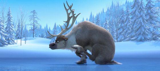 ディズニー『FROZEN』予告動画では、トナカイと雪だるまの出会いを目にする事が出来ます5
