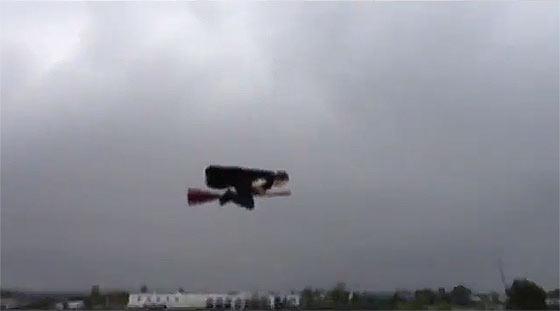 先日話題になっていた空飛ぶ魔法使いのGIF動画のタネ明かし1