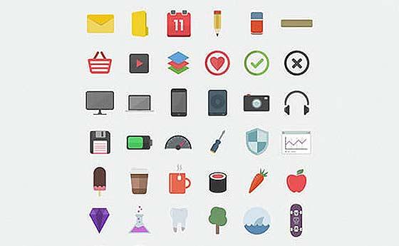 Flatilicious (48 Icons)