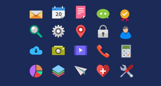 Flat Icons (20 Icons)
