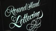 フリーハンドで美しい文字を描いていく、ハンドレタリングの凄まじいテクニックを収めたデモンストレーション映像6
