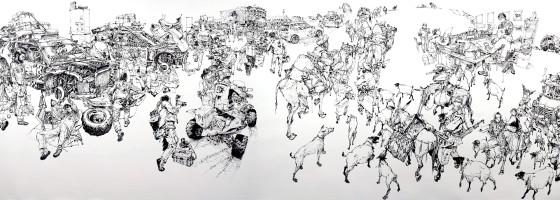 指先から紡ぎだされる、1枚の壮大なイラストレーションを描く様子を収めたタイムラプス映像5