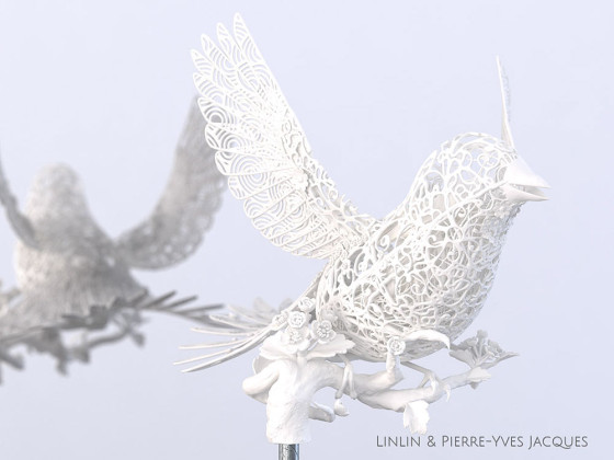 3D PRINTSHOW 2013で展示された、精緻な模様を動物の造型に彫刻した美しい照明作品11