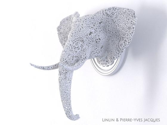 3D PRINTSHOW 2013で展示された、精緻な模様を動物の造型に彫刻した美しい照明作品2