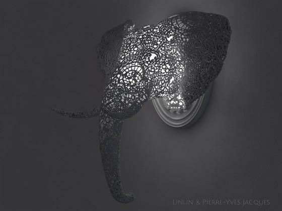 3D PRINTSHOW 2013で展示された、精緻な模様を動物の造型に彫刻した美しい照明作品3