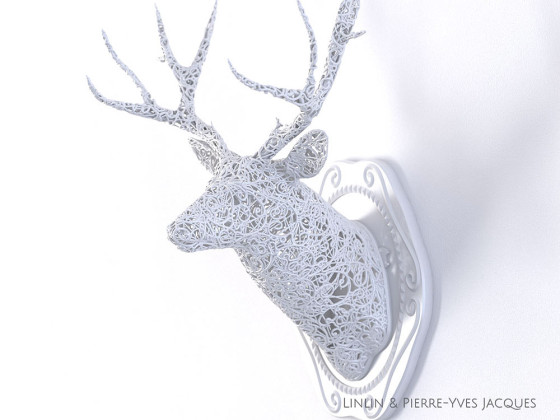 3D PRINTSHOW 2013で展示された、精緻な模様を動物の造型に彫刻した美しい照明作品5