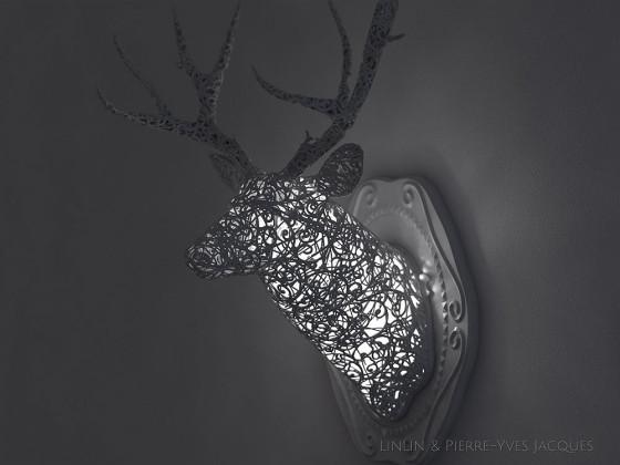 3D PRINTSHOW 2013で展示された、精緻な模様を動物の造型に彫刻した美しい照明作品6