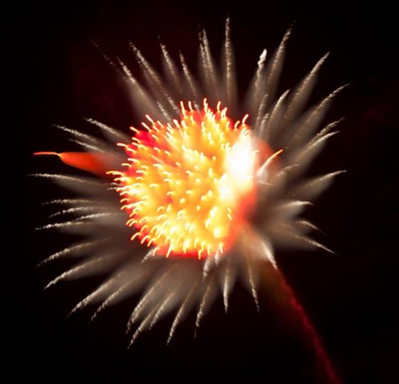 長時間露光とリフォーカスという技法で撮影した花火の画像が美しい8