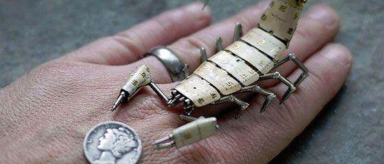 時計の部品で作られたスチームパンクな昆虫たちがカッコいい