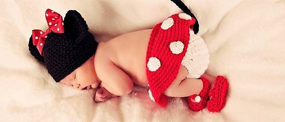 【オススメ】これはとっても可愛い!赤ん坊にミッキーマウスやミニーマウスのコスプレをさせてみた!(購入可能)