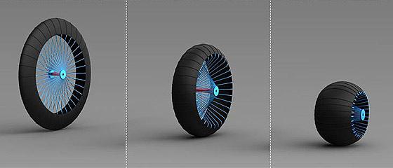 荒地・未舗装路・泥地のそれぞれに1つの車輪で対応できる、新しいホイールのコンセプトが面白い
