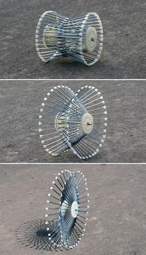 荒地・未舗装路・泥地のそれぞれに1つの車輪で対応できる、新しいホイールのコンセプトが面白い3