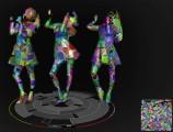 公開された表面材質を設定すれば、Perfumuの3人が踊ってくれる!
