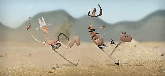魅力的なキャラクターが動き回る!強盗を企むちょっとドジな、2人の無法者のショートストーリー『 Rob 'n' Ron 』4