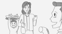 涙なしには見る事ができない、鉄拳によるパラパラ漫画『 約束 』2