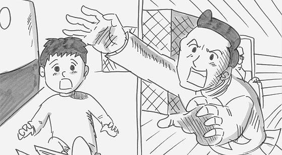 涙なしには見る事ができない、鉄拳によるパラパラ漫画『 約束 』3