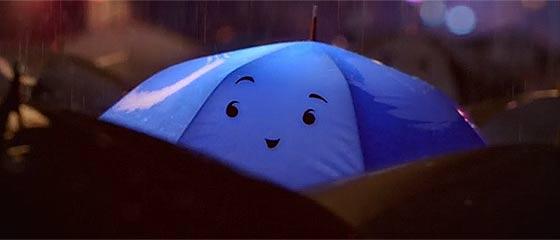 【動画】これを見ると、街中にある色んなものが顔に見えてくる?!恋する傘を描いたPixarによる3DCGアニメーション『 The Blue Umbrella 』