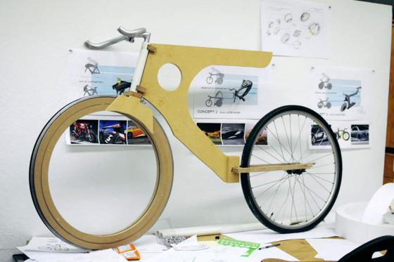 前輪の中に荷物を入れてしまうという、大胆な発想の自転車『 Transport 』7