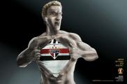 ブラジルのサッカーチームのためにデザインされたポスター広告の、分かりやすい制作手順3