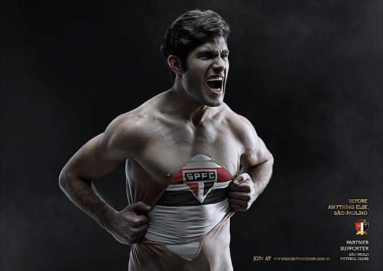 ブラジルのサッカーチームのためにデザインされたポスター広告の、分かりやすい制作手順のチュートリアル9