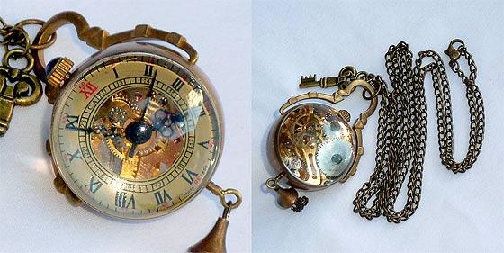 UmbrellaLaboratoryの作るスチームパンクな懐中時計やネックレスが恰好良い2