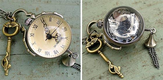 UmbrellaLaboratoryの作るスチームパンクな懐中時計やネックレスが恰好良い3