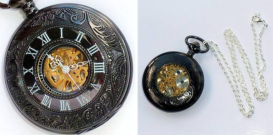 UmbrellaLaboratoryの作るスチームパンクな懐中時計やネックレスが恰好良い5