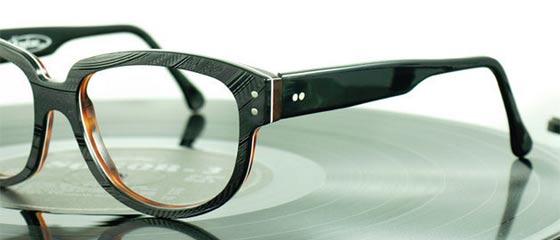 聞かなくなったレコードのLP盤を部品として再利用した眼鏡ブランド『 Vinylize 』