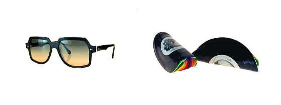 聞かなくなったレコードのLP盤を部品として再利用した眼鏡ブランド『 Vinylize 』3