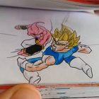 【動画】ドラゴンボールの戦闘シーンを描いた、外国人の作ったパラパラ漫画がすごい!