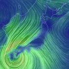 今まさに地球上を吹く風の流れや風速、相対湿度や雲水量、海面更正気圧などを美しいビジュアルで表現するサイト earth.nullschool.net が凄い!