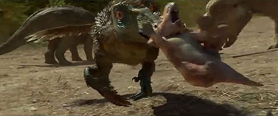超リアルな3DCG映像で、7000万年前の恐竜が闊歩する時代を体感できる映画『ウォーキング with ダイナソー』の予告映像4